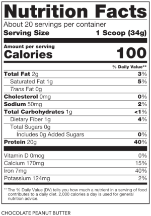 SteelFit Steel Vegan Nutrition Facts
