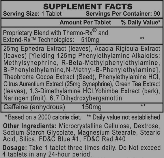 Stimerex-ES Ingredients