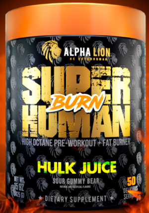 SuperHuman Burn Front Label Graphic
