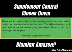 Supplement Central Closes