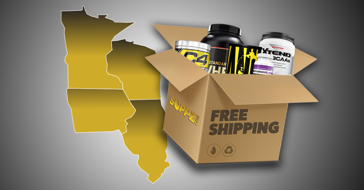 Suppz Free Shipping Offered To WI IA IL Or MN