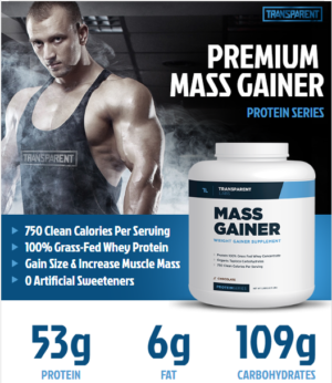 Transparent Labs Mass Gainer Ingredients Poster