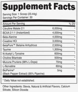 Transparent Labs PreSeries STIM-FREE Ingredients