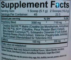 USPLabs Jack3d 2015 Ingredients