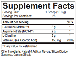 USPLabs MaxREPS Ingredients