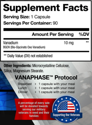 Vanaphase Ingredients