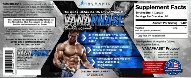 Vanaphase Label