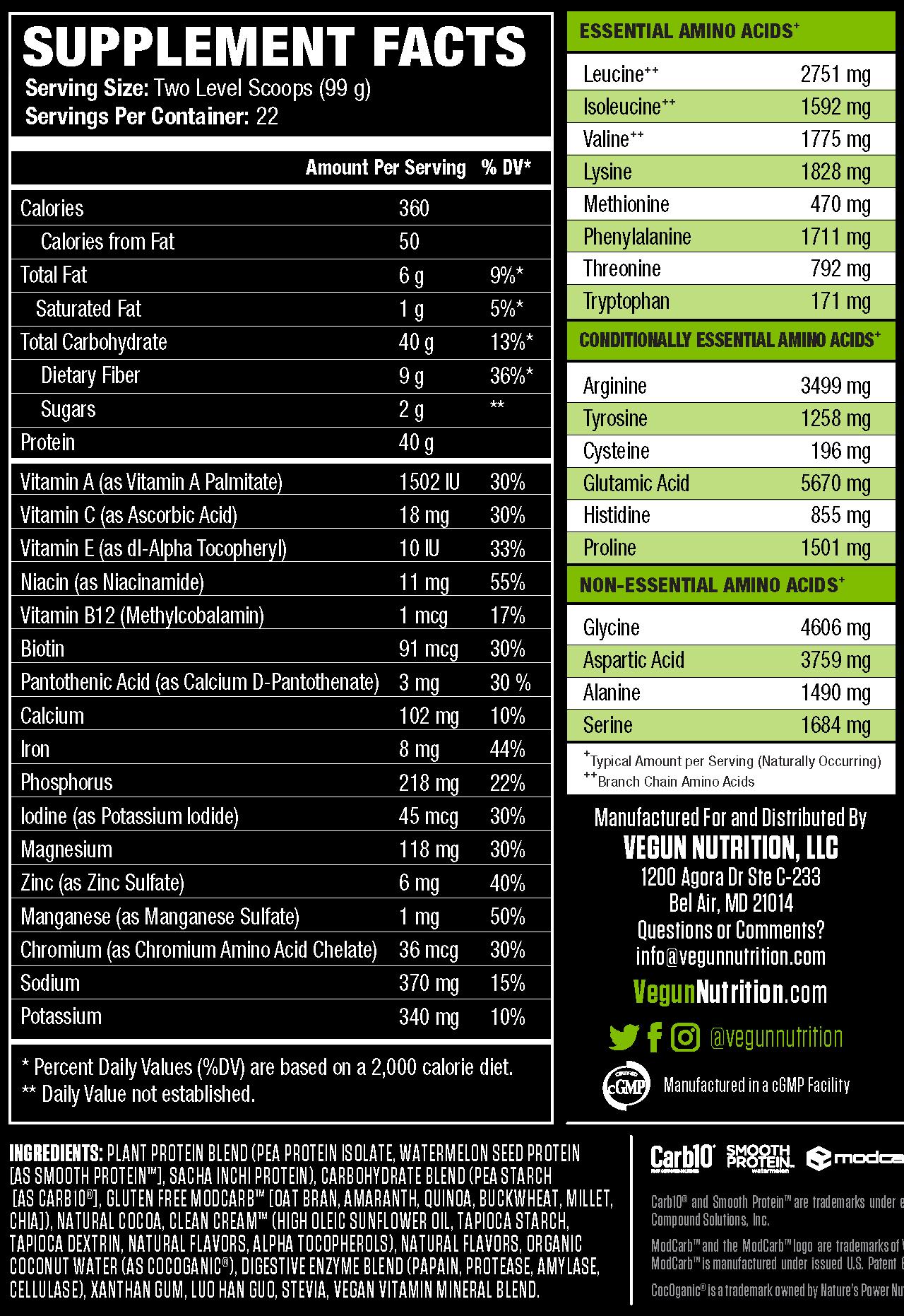 Vegun Nutrition S Veganmass A Vegan Athlete S Dream Come True