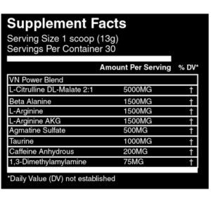 Vein Nutrition Rupture Ingredients
