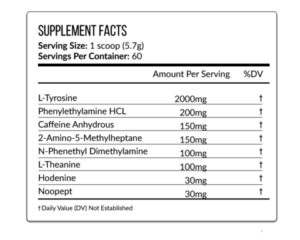 Vein Nutrition TruStim Ingredients