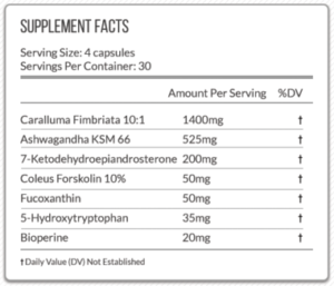 Vein Nutrition Veinquish Ingredients
