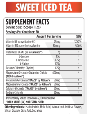 VMI Sports Aminogex Ultra Ingredients