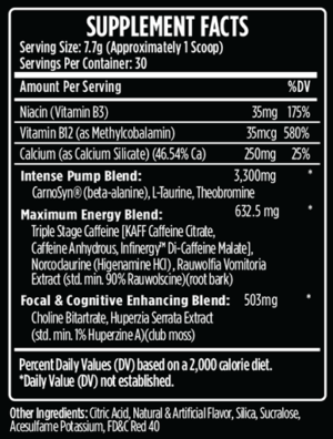 VMI Sports K-XR Ingredients